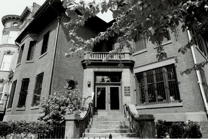 IWP Entrance - Black and White
