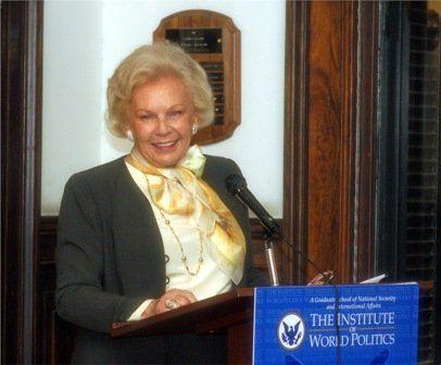 Lady Blanca Rosenstiel speaks at the inauguration of the Kosciuszko Chair at IWP, 7 Nov 2008