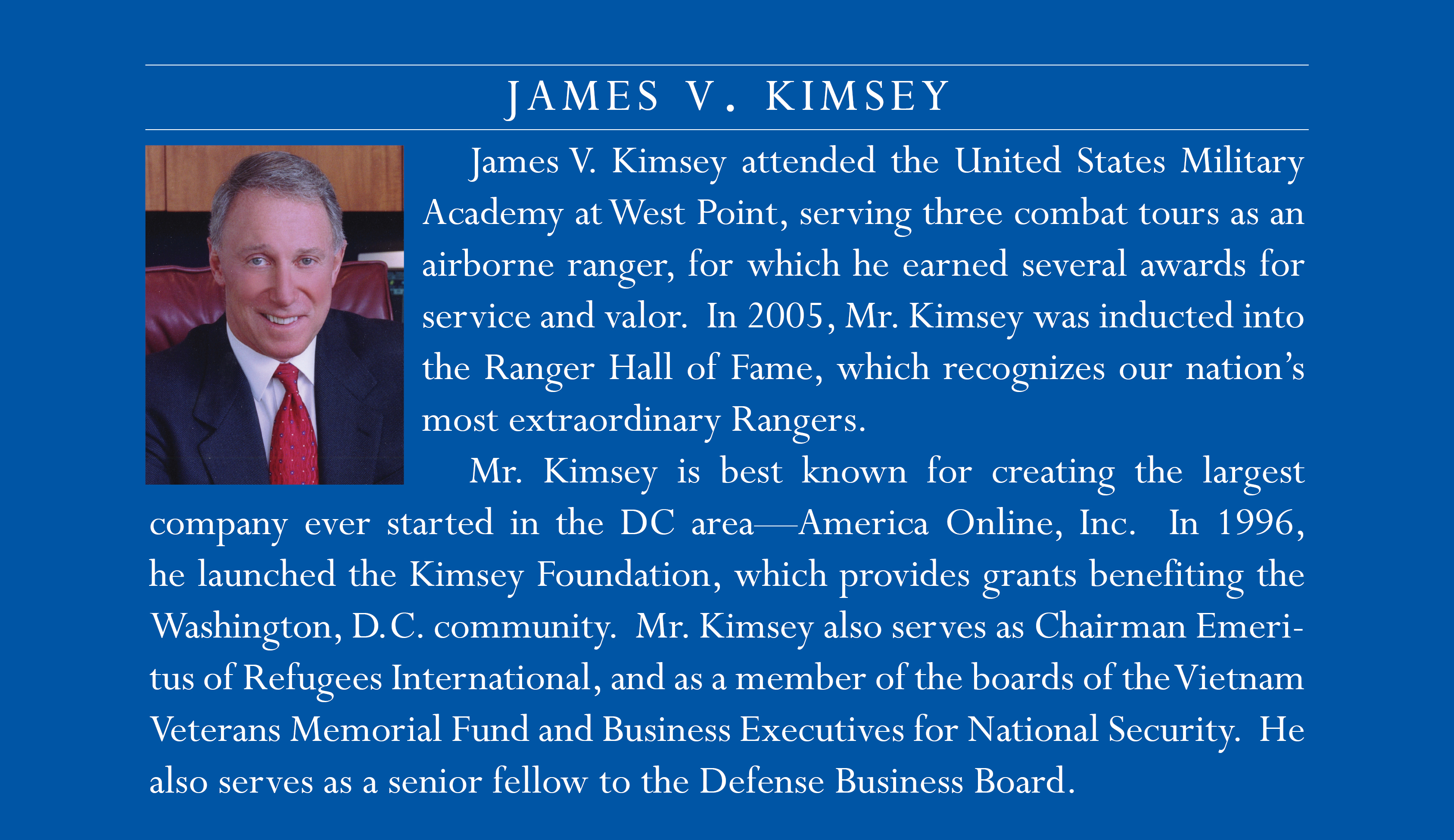 Kimsey new bio