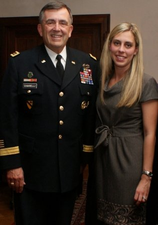 General Chiarelli and Captain Katie Crombe