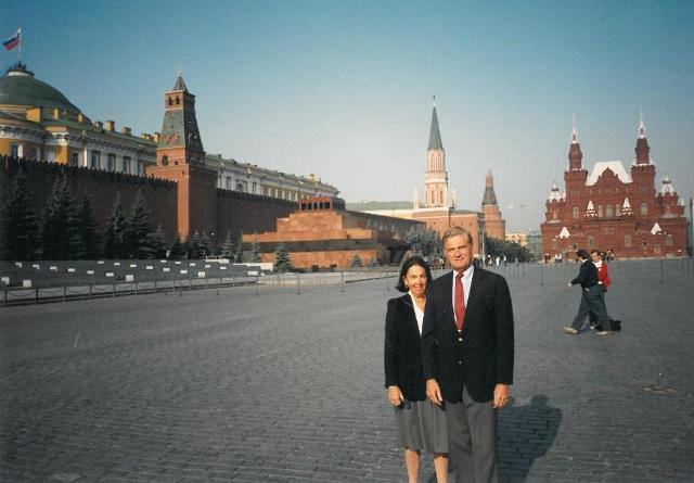Bill and Renee Lickle in Russia, 1992