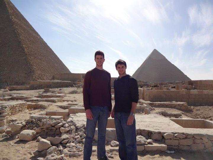 Joe Humphrey and Joe Pauloski at the pyramids, July 2013