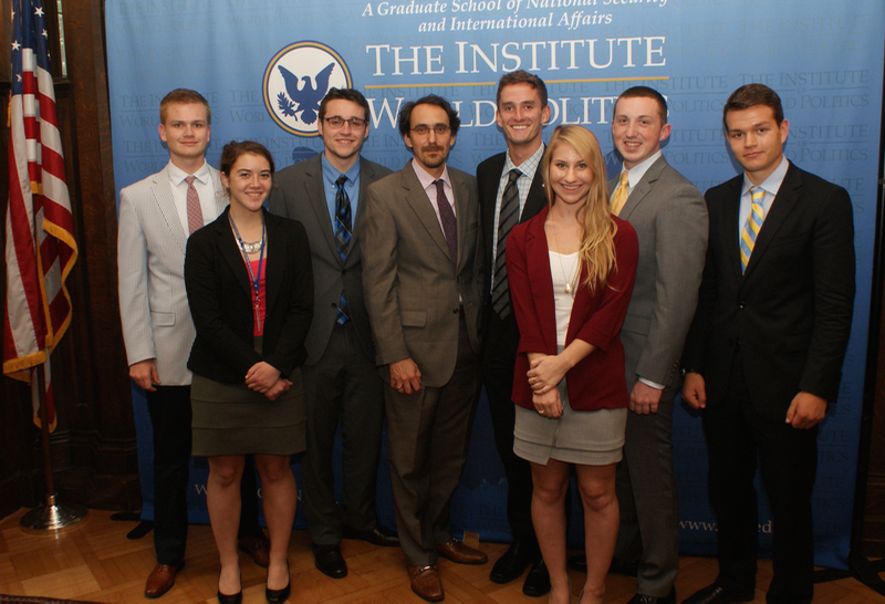 Eugene Gholz with IWP Interns, July 2015