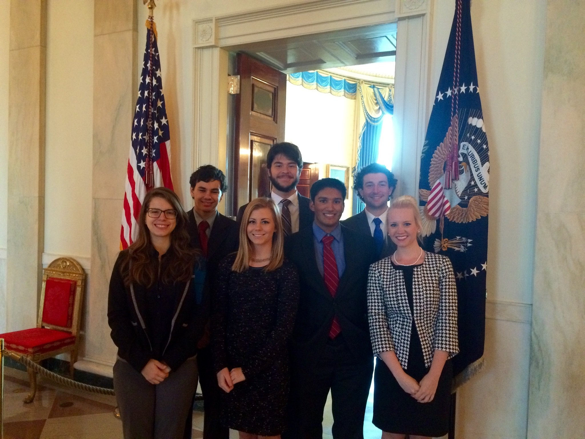 IWP Interns Fall 2015 at White House