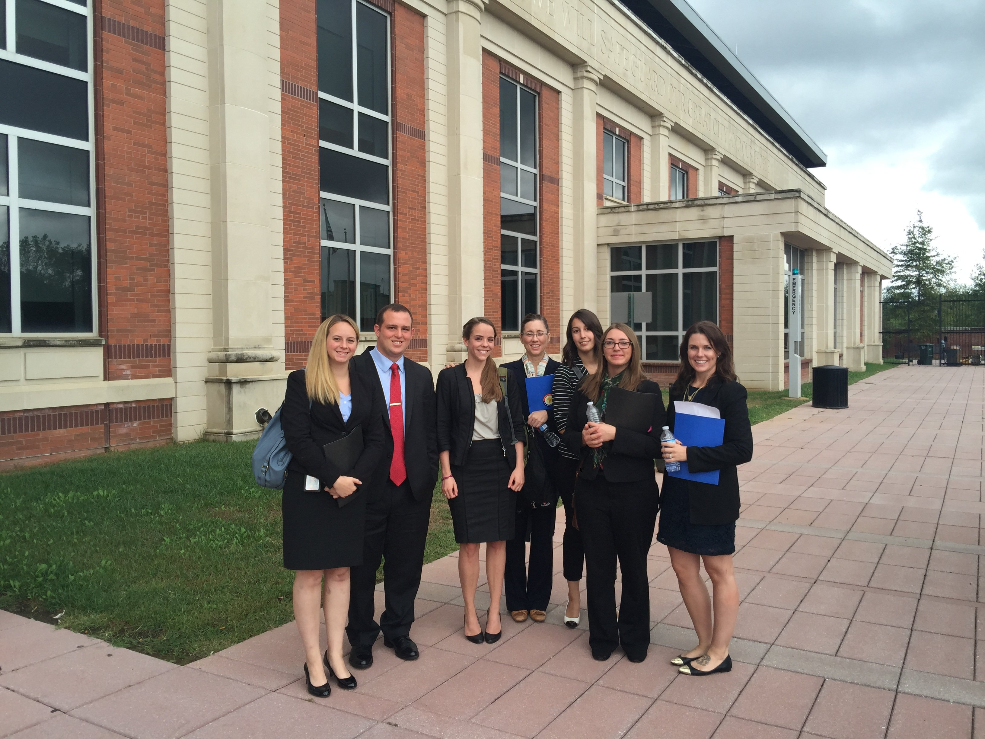 Students at Washington Regional Threats Assesment Center - Career Center Trip