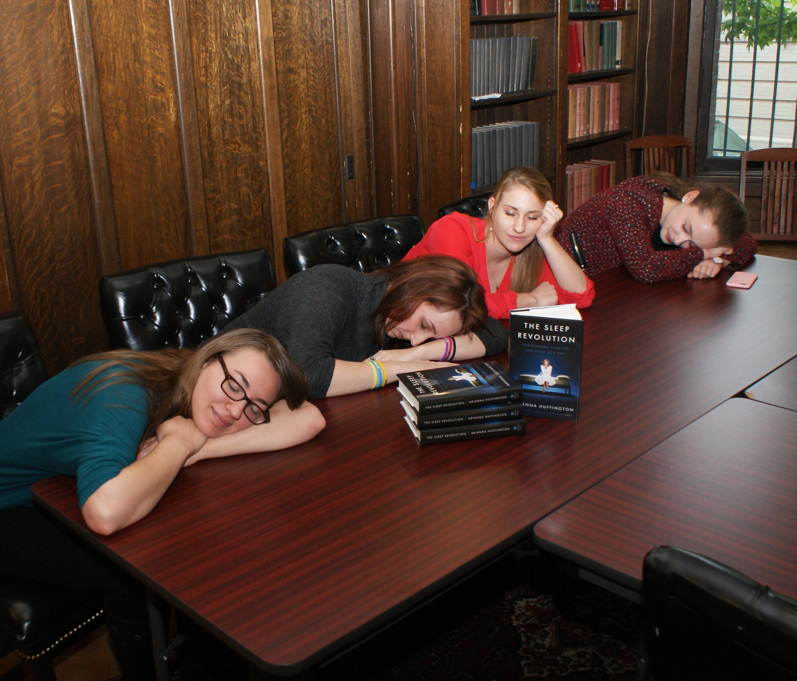 IWP students with The Sleep Revolution by Arianna Huffington (2)