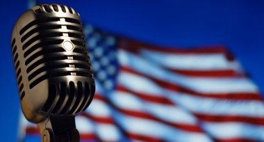 microphone and flag 308x204