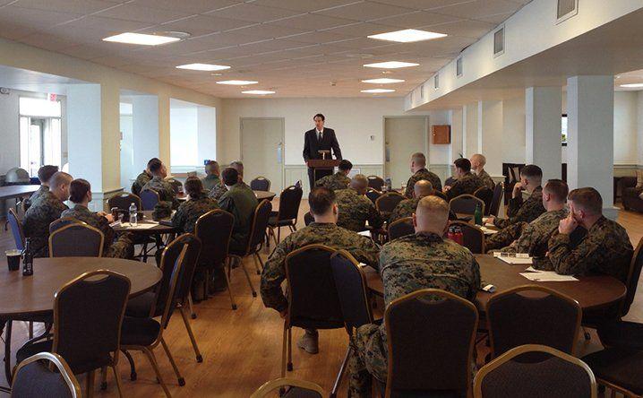 John Lenczowski speaks to USMC, March 2017