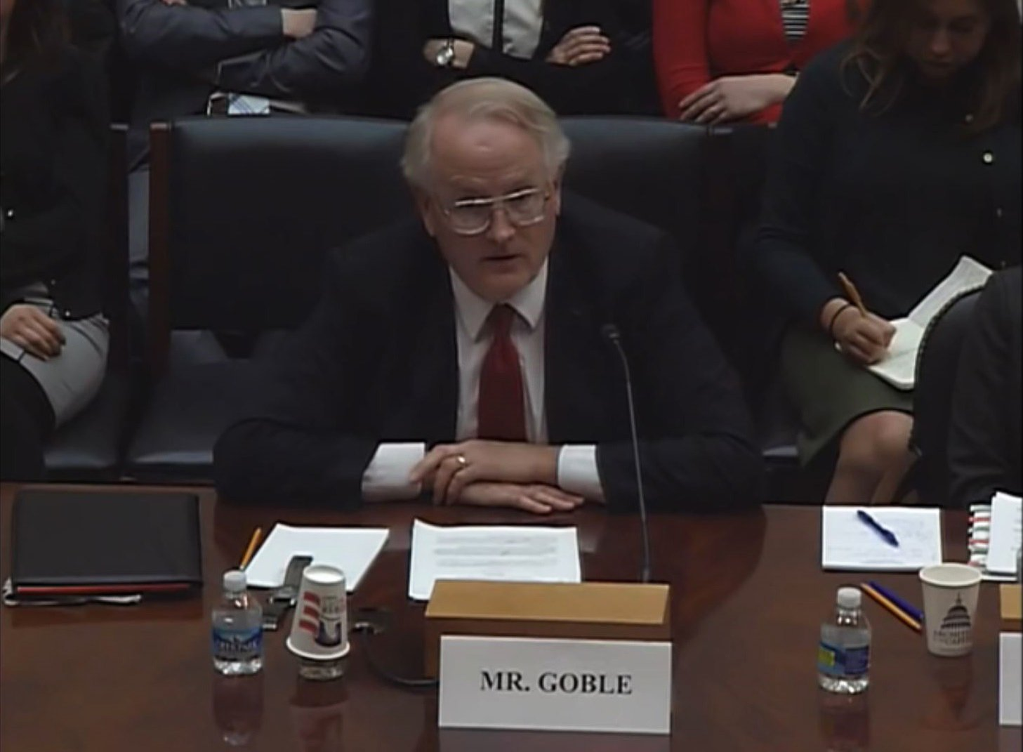 Paul Goble testifies on the Hill, March 2017