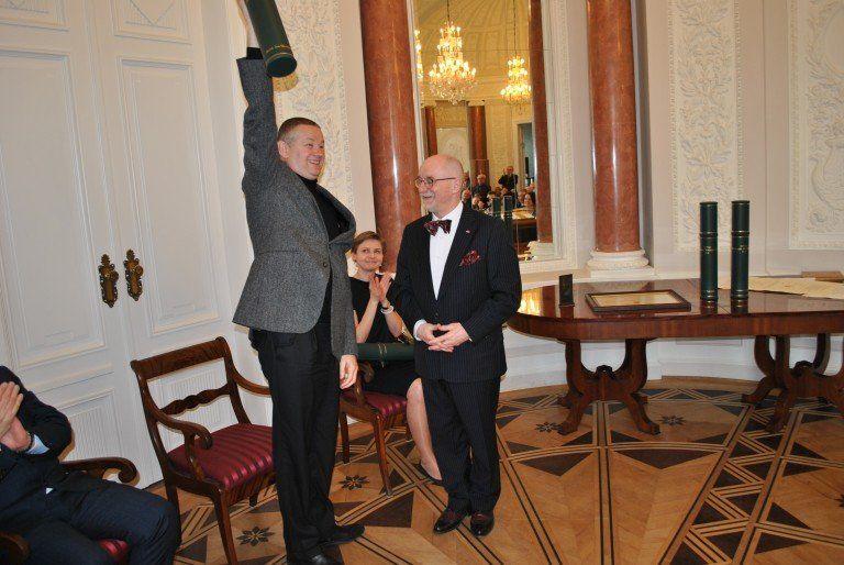 Marek receives Nagroda Przegladu Wschodniego award