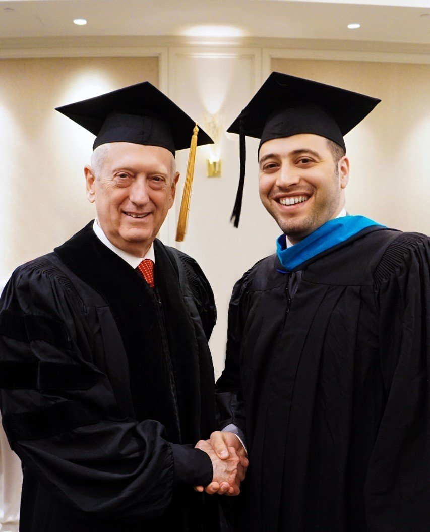 Secretary of Defense James Mattis with Zak Allal