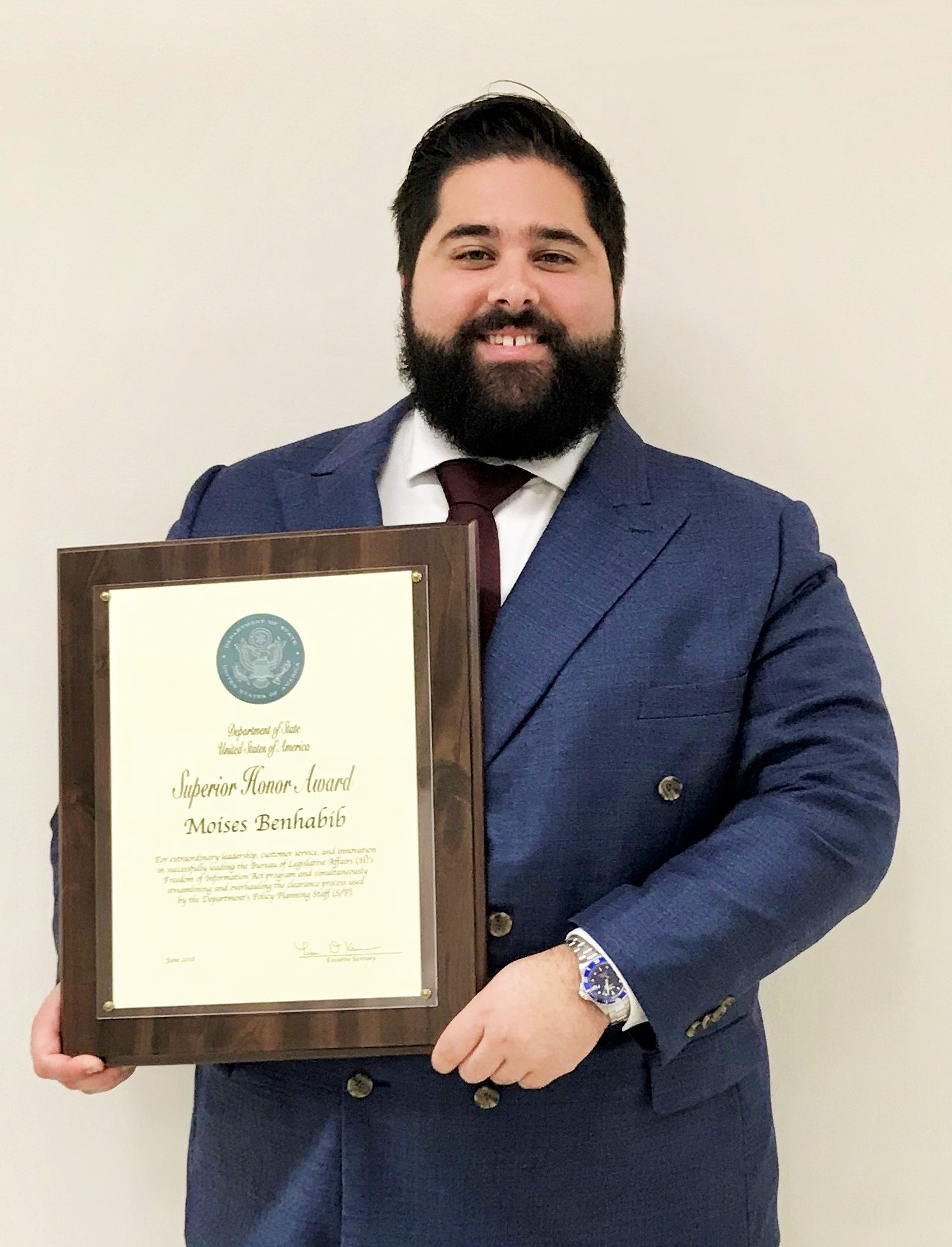 Moises Benhabib Superior Honor Award