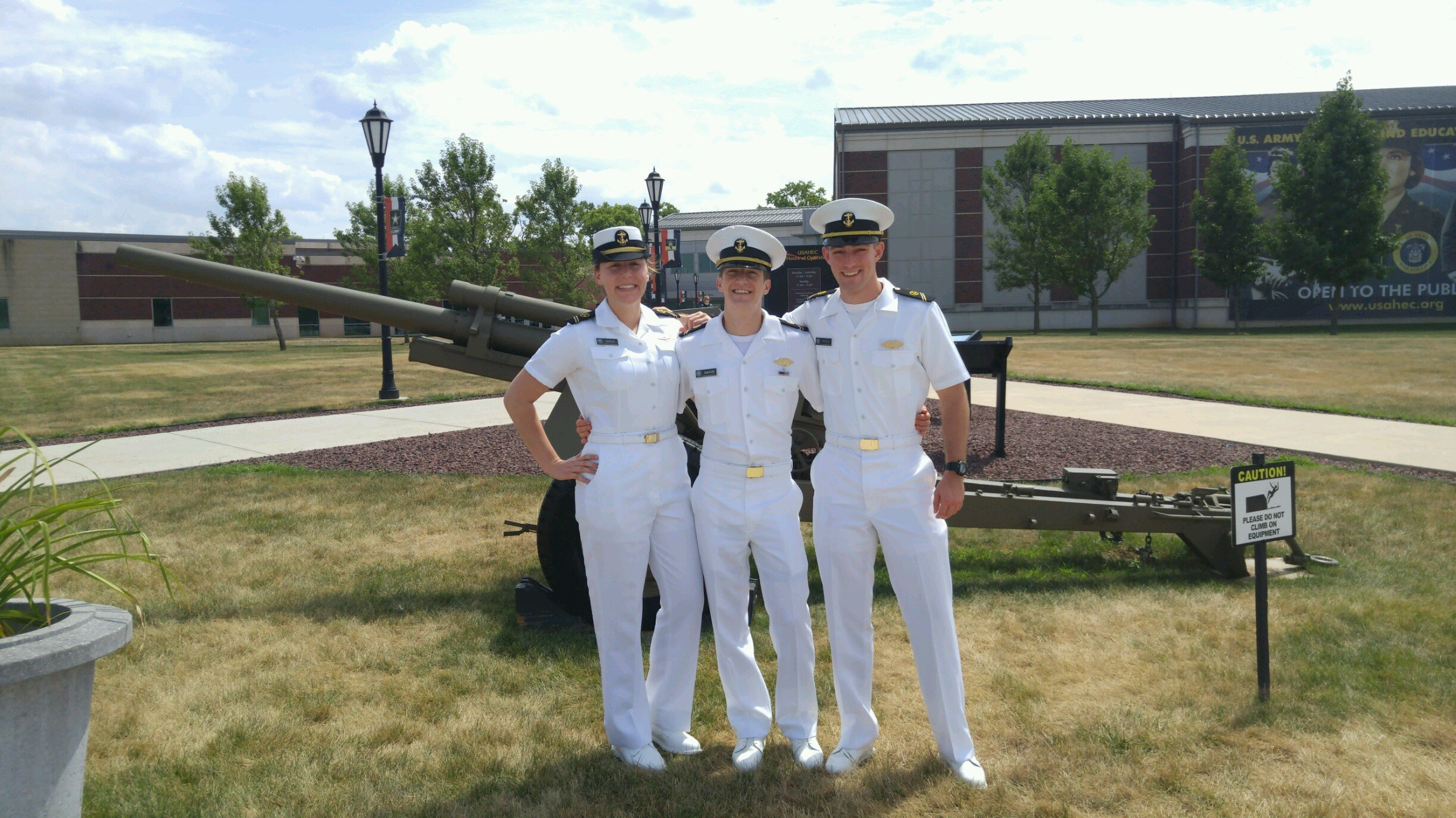 (LtoR) Midshipmen Gathy, Gaines and Welch at the U.S. Army Heritage Foundation, Carlisle, PA.