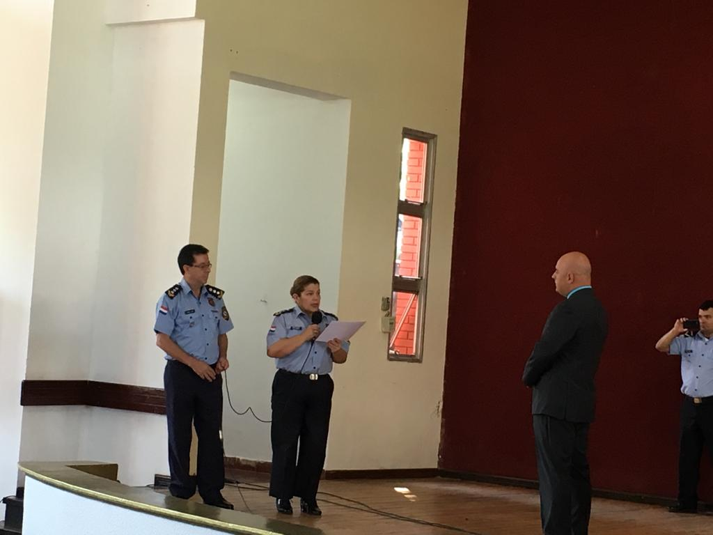 Peter Tase's lecture at the National Police Academy in Paraguay 3