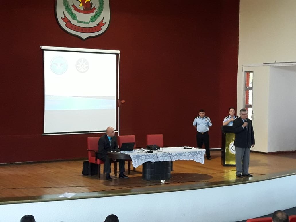 Peter Tase's lecture at the National Police Academy in Paraguay 2