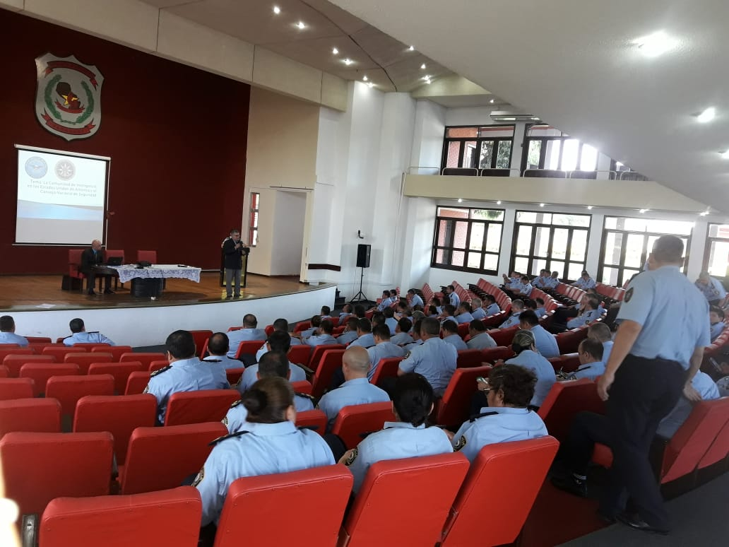 Peter Tase's lecture at the National Police Academy in Paraguay