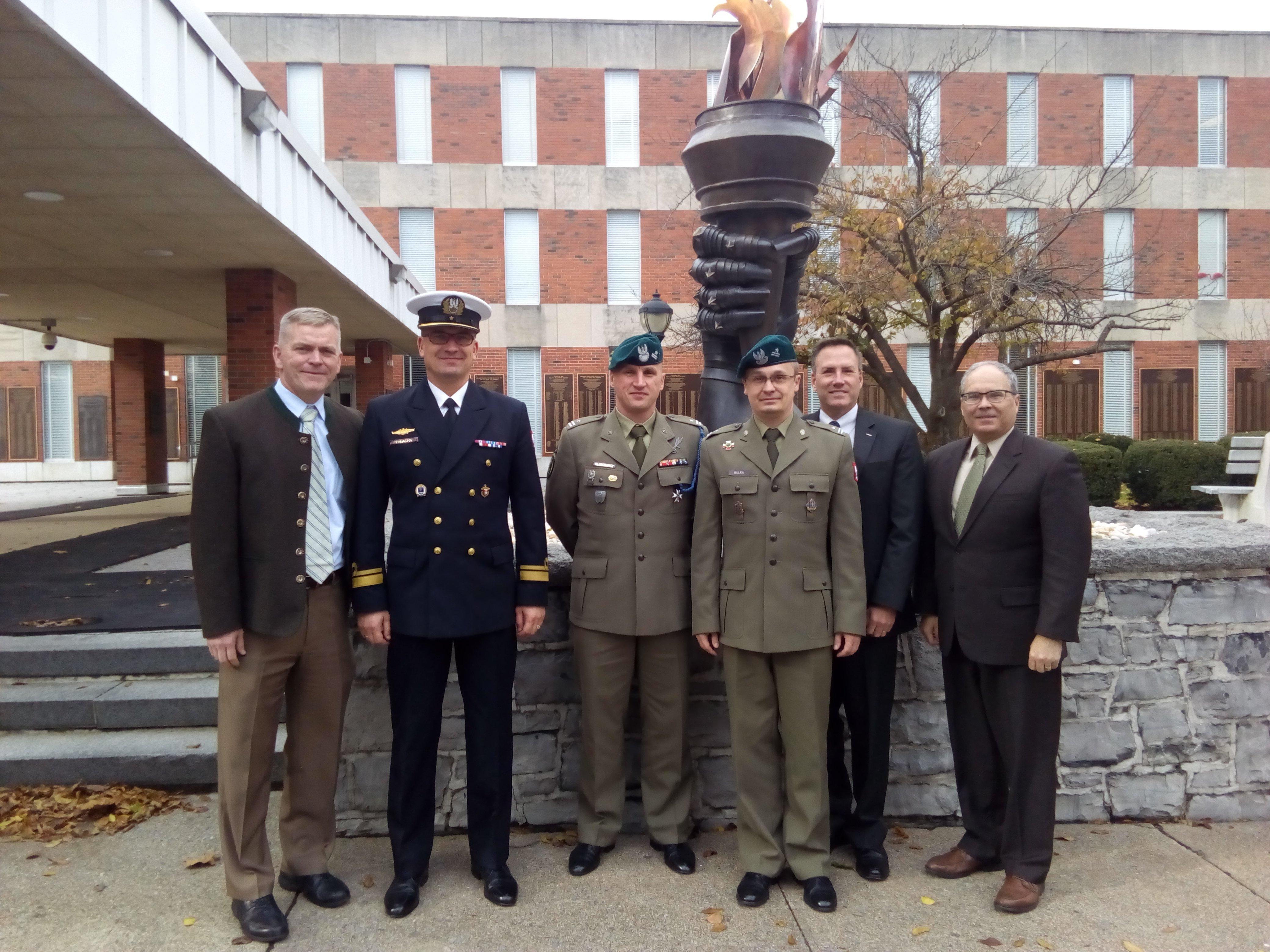 Polish Fellows at USAWC, November 2018