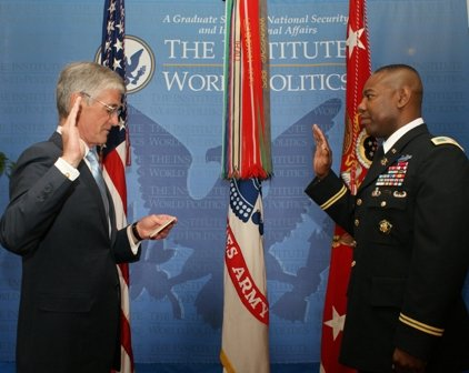 Secretary of the Army and COL Bostick