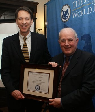 Brian Kelley receives award, February 2011