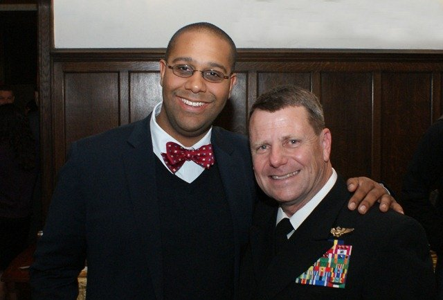 Nathaniel Thomas and VADM Gortney
