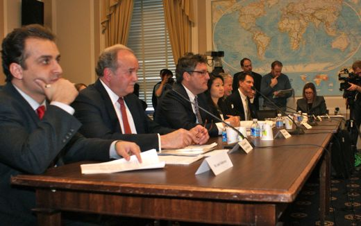 Amir Fakhravar and John Lenczowski testify at Congress, April 6, 2011
