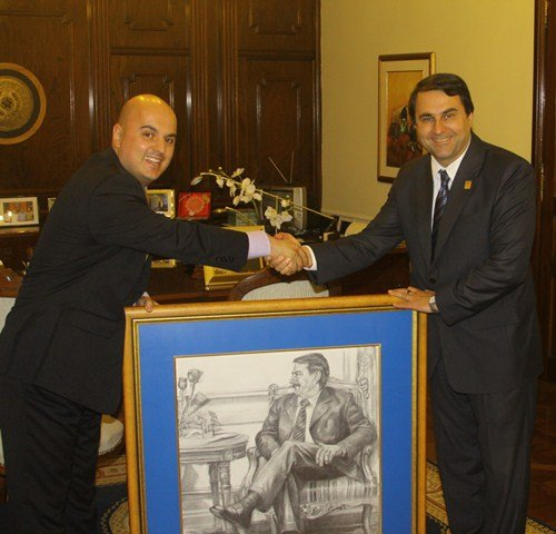 Peter Tase and Paraguayan President Federico Franco
