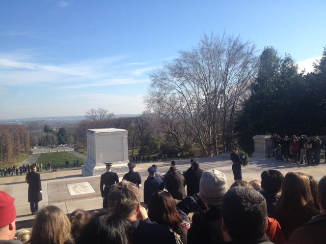 IWP students lay wreaths on graves at Arlington National Cemetery 1