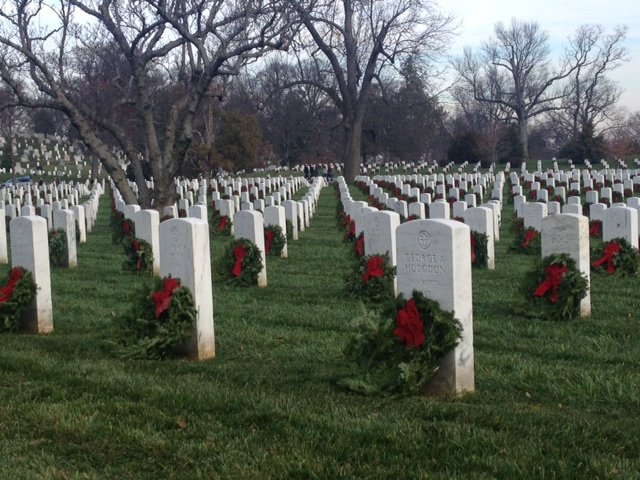 IWP students lay wreaths on graves at Arlington National Cemetery 2
