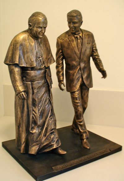 Pope and Reagan Statue