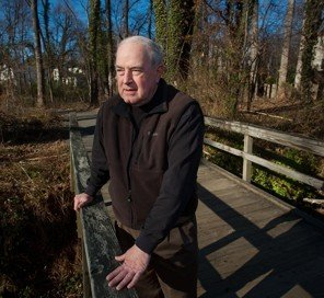 Brian Kelley at Foxstone Park, photo from the Washington Post