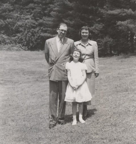 Casey with the family in the 50s