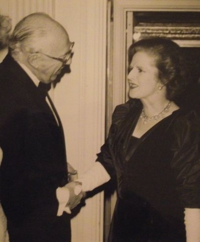 Bill Casey and Margaret Thatcher