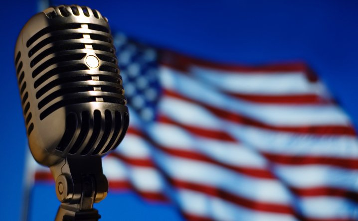 Microphone and Flag 444x718