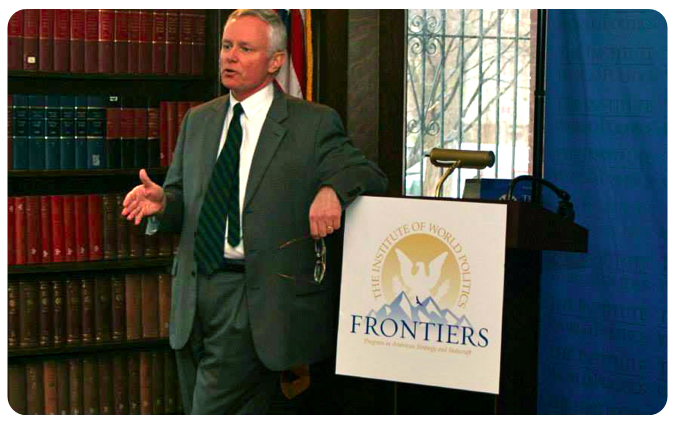 Prof. Joseph Wood speaking at Frontiers