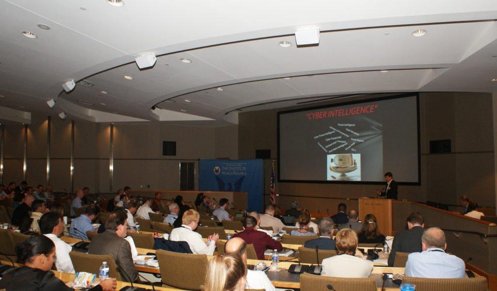 John Scimone leads a seminar for the Cyber Intelligence Initiative