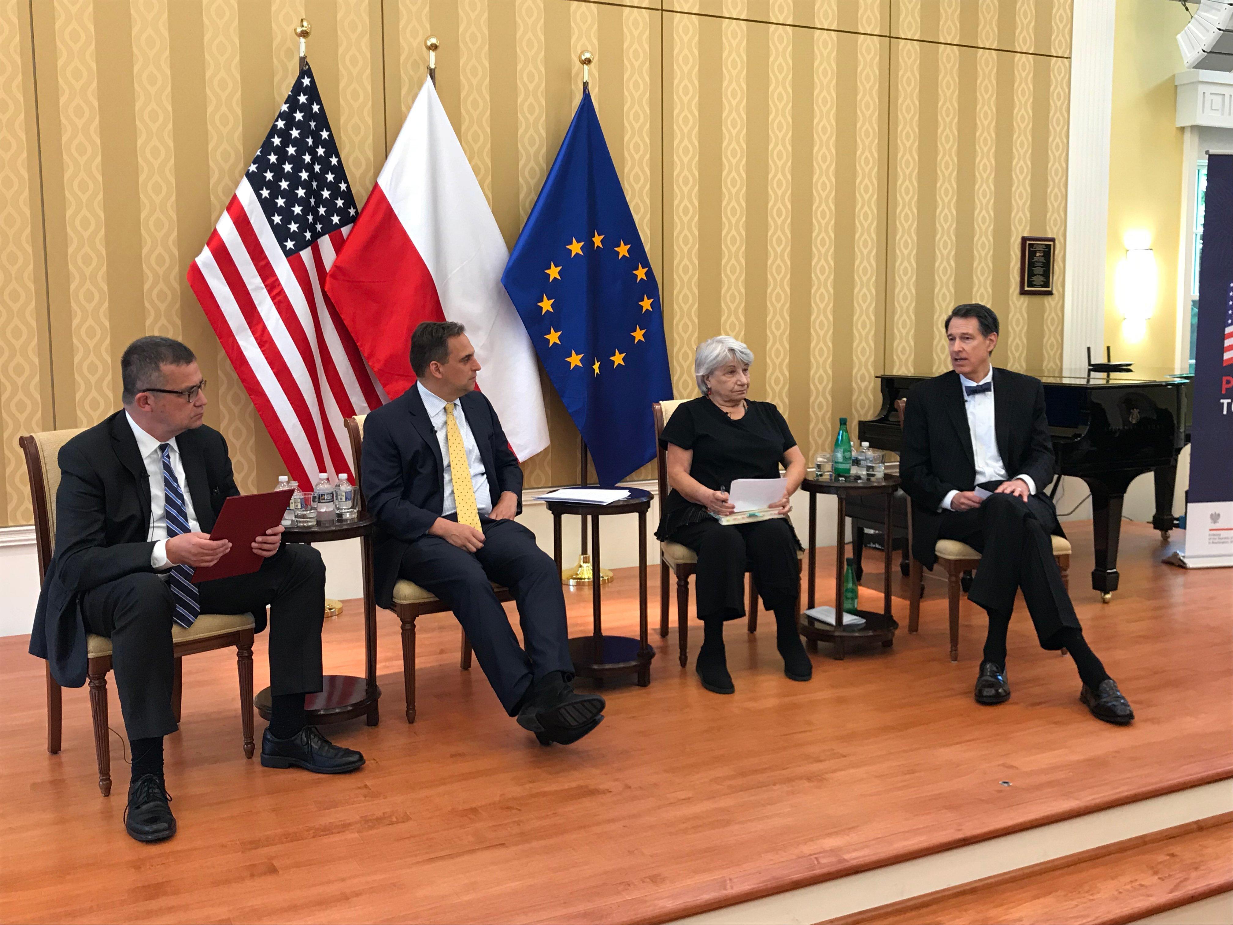 John Lenczowski speaks at Polish Embassy Event, photo credit -- Martin Wołk MSZ