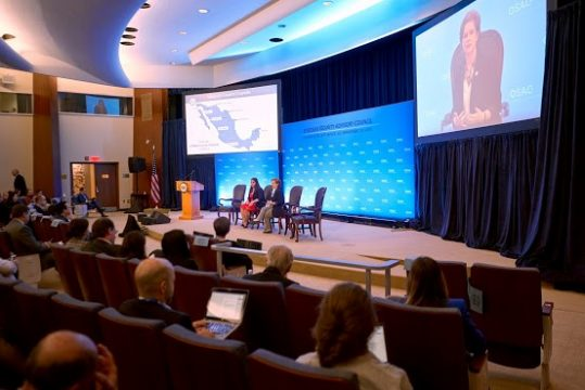 Chelsea Rose speaking at State Department's OSAC 34th Annual Briefing