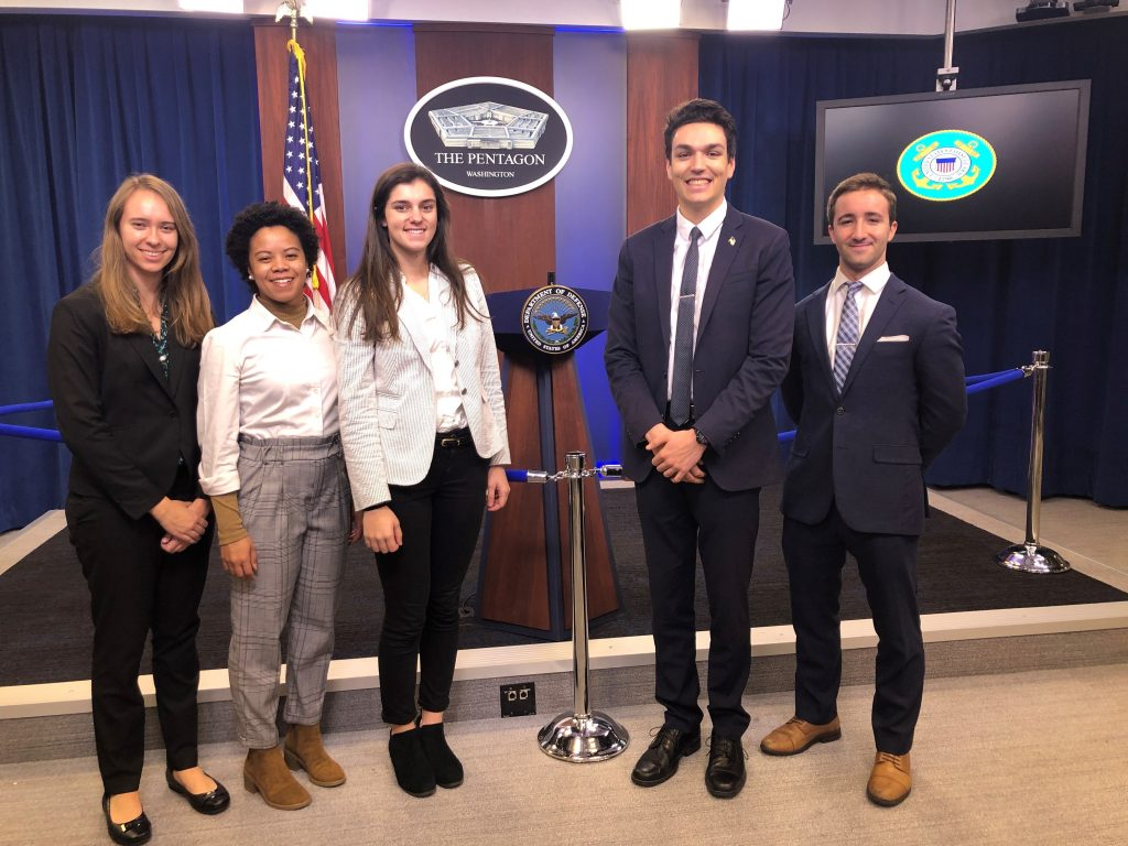 Interns on Pentagon Tour, Fall 2019
