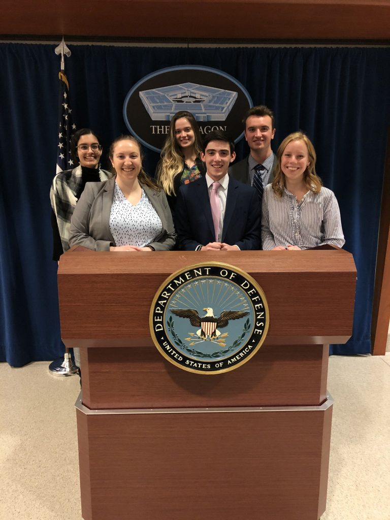 IWP students visiting the Pentagon