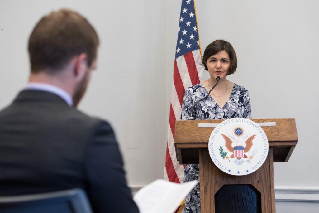 Rachel Bauman, Photo courtesy of the US Helsinki Commission