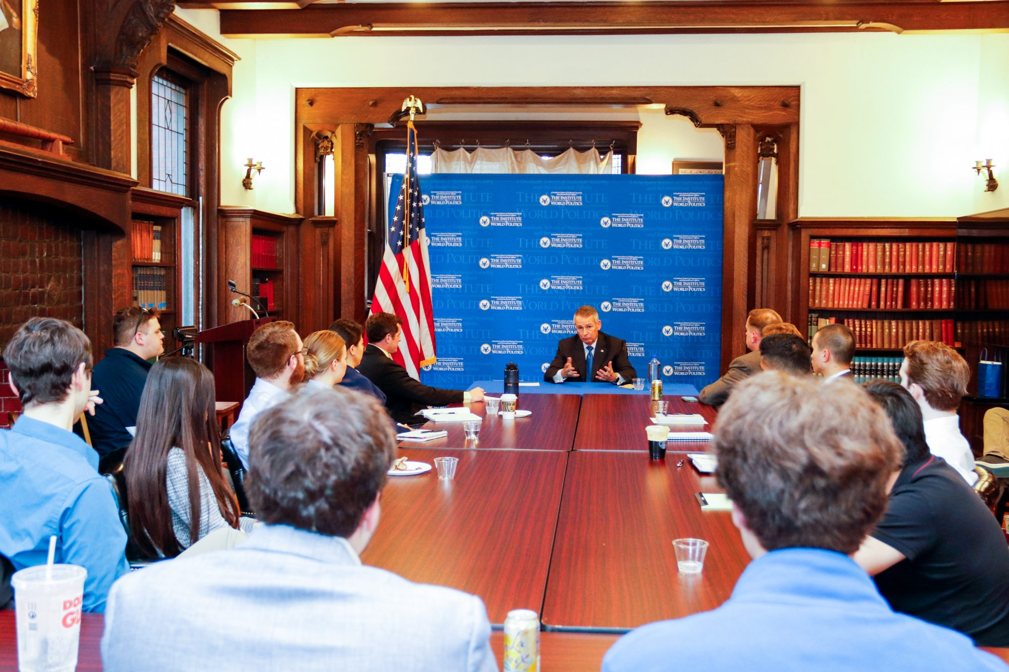 General Peter Pace at IWP Student Roundtable