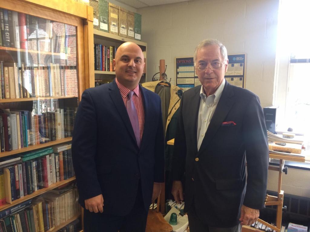 Peter Tase with Prof. Steve H. Hanke, JHU