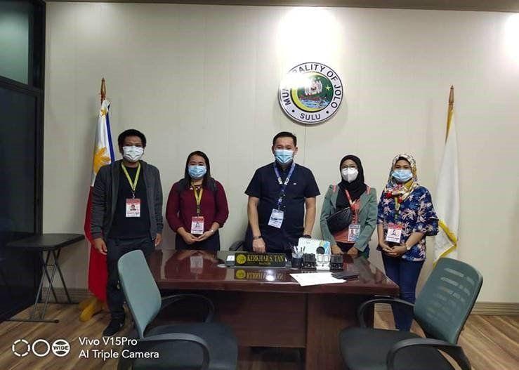 AAI staff with Mayor of Jolo