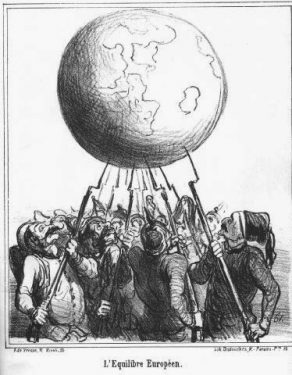 Honore Daumier, L'Equilibre Europea, (1866)