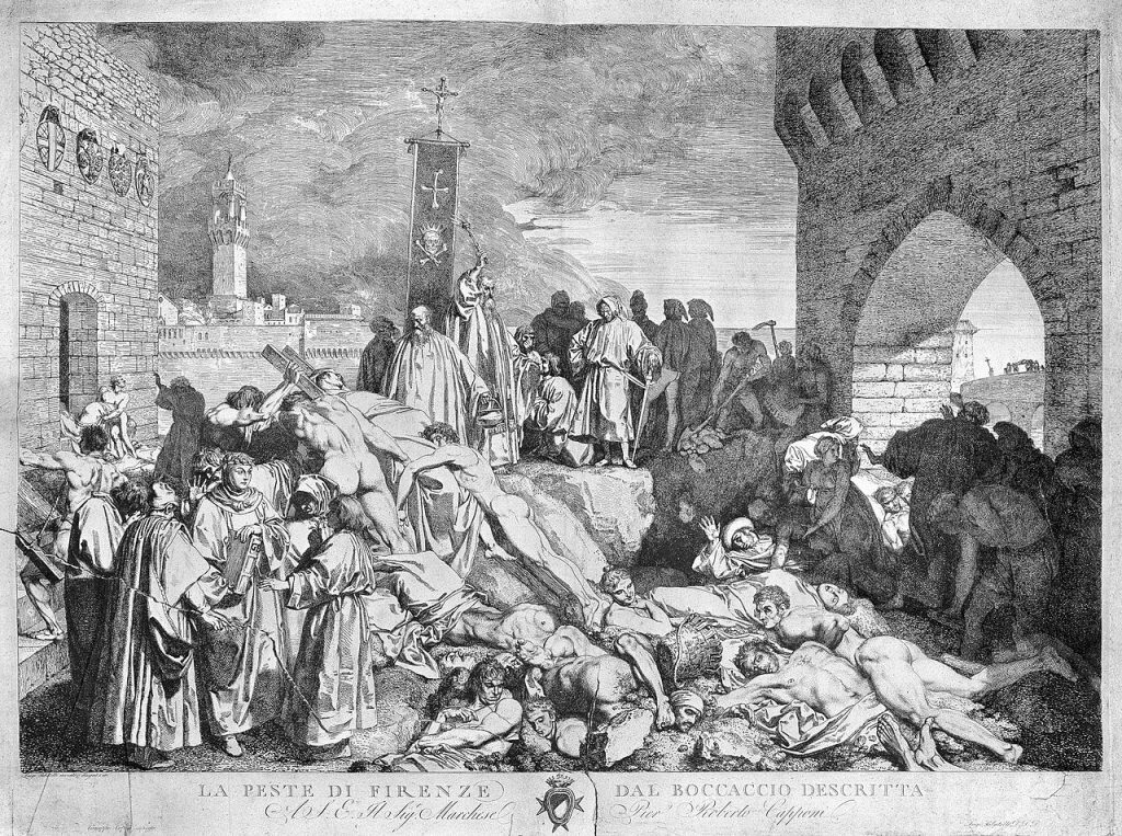 The plague of Florence in 1348, as described in Boccaccio's Wellcome