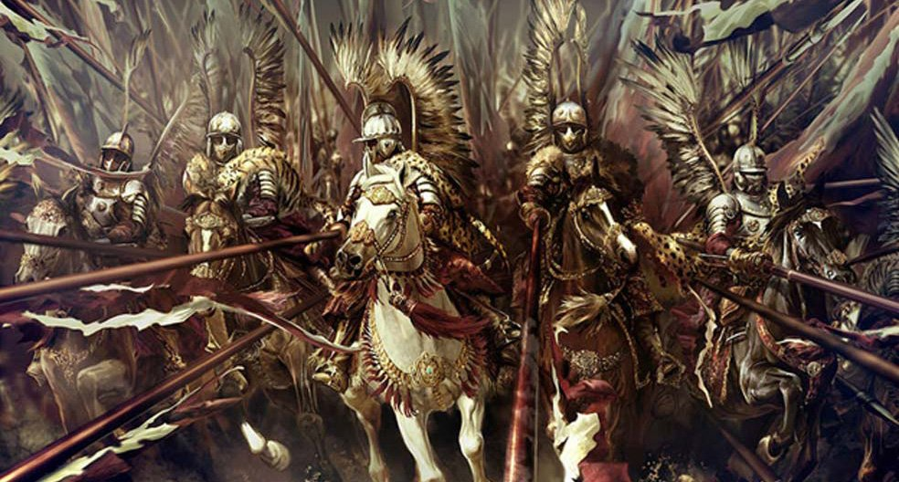 Winged Hussars charging ahead