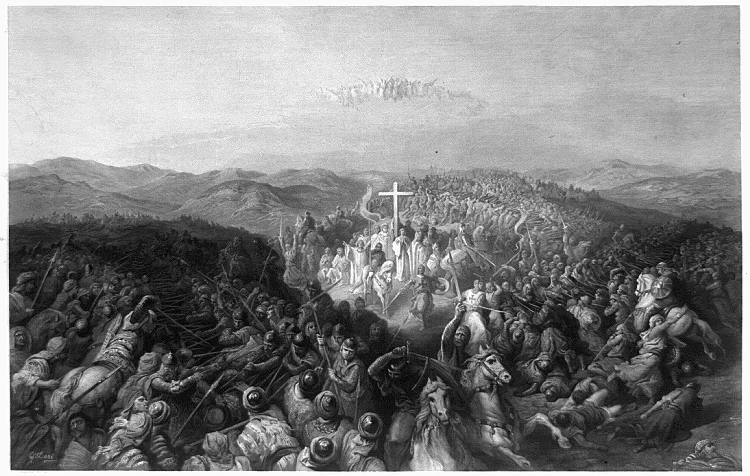 Battle of Ascalon engraving