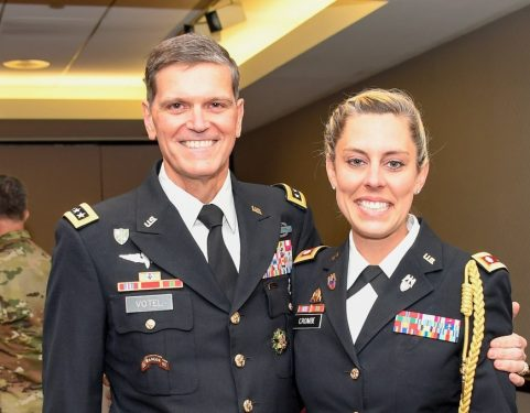 Katie Crombe with GEN Joseph Votel
