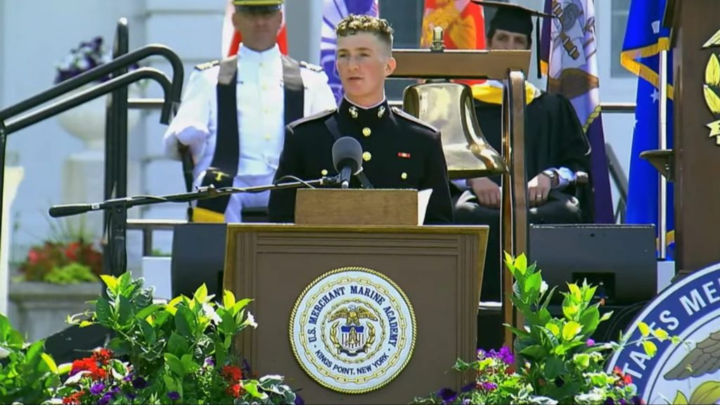 Robert Gaines, Valedictorian of the USMMA Class of 2020, Photo courtesy of USMMA