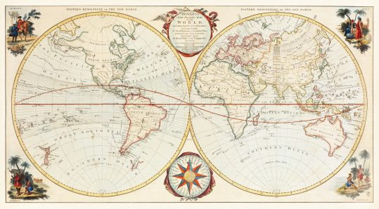 Bowles' new pocket map of the world